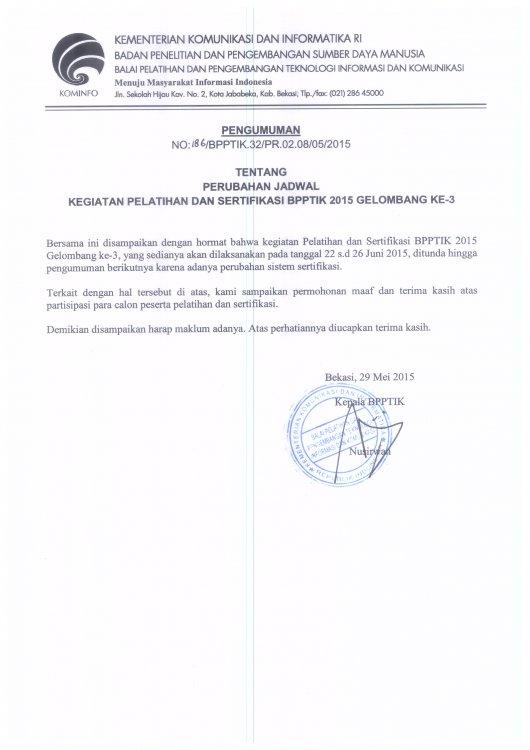 Contoh Surat Pemberitahuan Perubahan Jadwal Prakerin