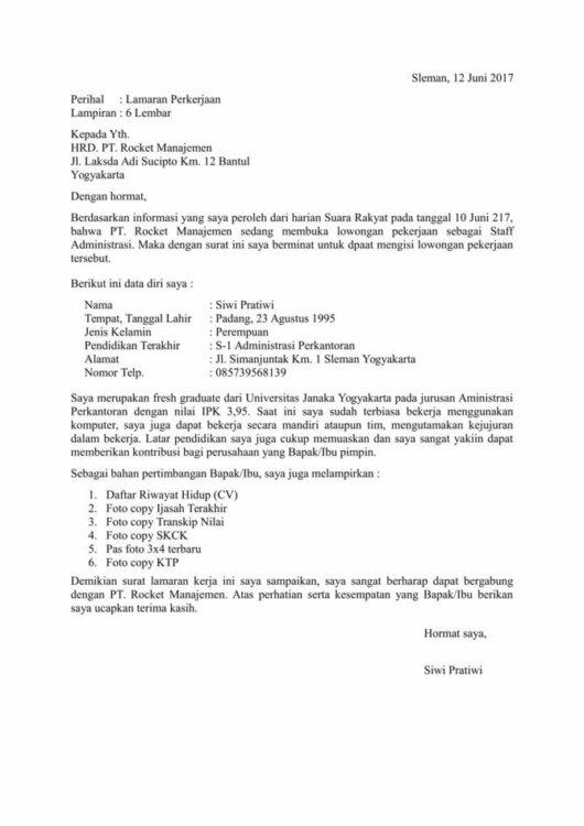 Contoh Surat Pengalaman Kerja Yang Resmi Dan Lengkap