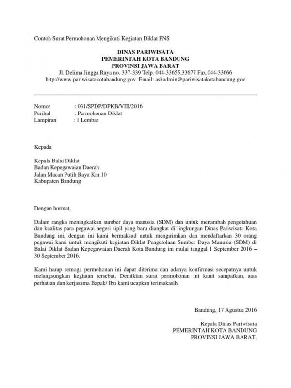 Contoh Surat Permohonan Izin Kegiatan 17 Agustus