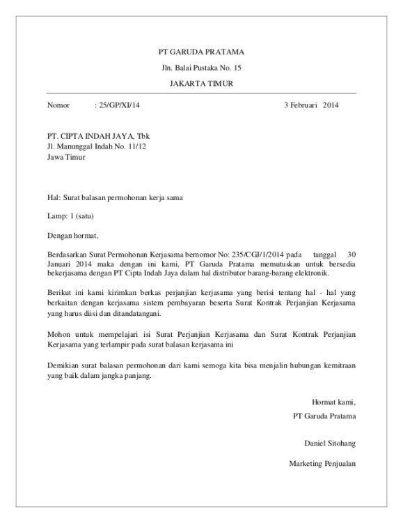 Contoh Surat Permohonan Dinas Bisnis